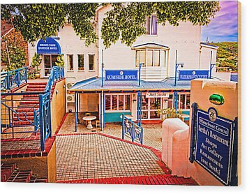 Quayside Hotel Of Simon's Town Wood Print by Cliff C Morris Jr