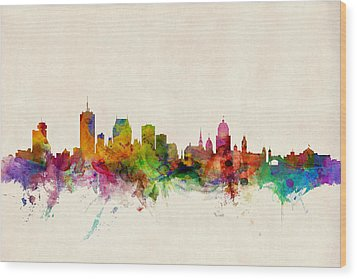 Quebec Canada Skyline Wood Print by Michael Tompsett