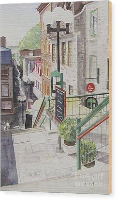 Quebec City Wood Print