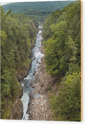 Quechee Gorge State Park Wood Print by John M Bailey