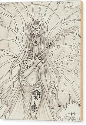 Queen Altheia Wood Print by Coriander  Shea
