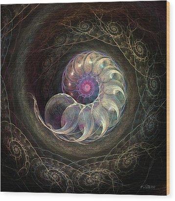 Queen Ammonite Wood Print