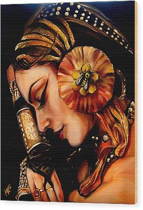 Queen Bee Wood Print