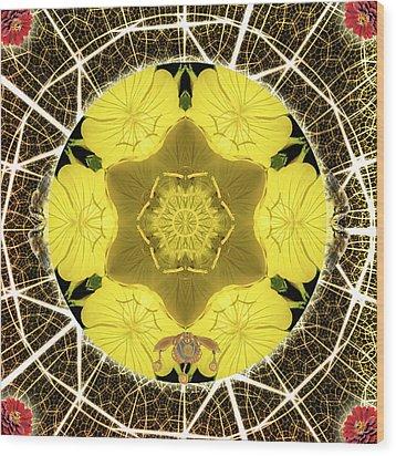 Queen Bee-nectar Of Life Wood Print