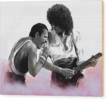 Queen II  Freddie Mercury And Brian May Wood Print