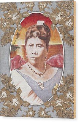 Queen Lili'uokalani Wood Print by Alan Fine