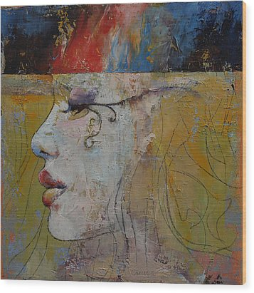 Queen Wood Print by Michael Creese