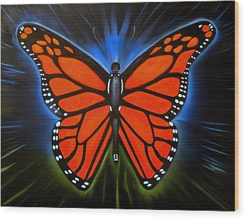 Queen Monarch Wood Print by RJ McNall