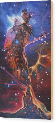 Queen Nebula 1 Wood Print by Toni Wolf