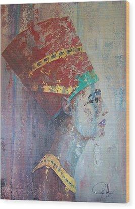 Queen Nefertiti Wood Print by John Henne