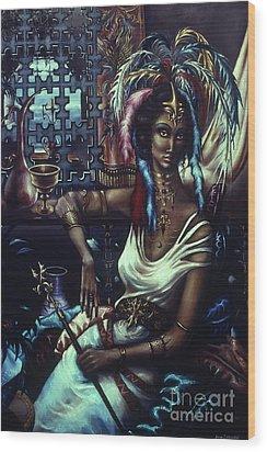Queen Of Atlantis Wood Print by Jane Whiting Chrzanoska