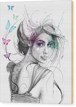 Queen Of Butterflies Wood Print by Olga Shvartsur