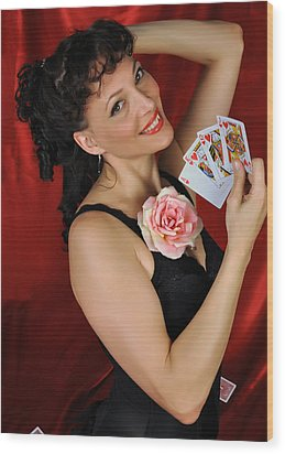 Wood Print featuring the photograph Queen Of Hearts by Jim Poulos