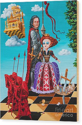 Wood Print featuring the painting Queen Of Hearts. Part 1 by Igor Postash