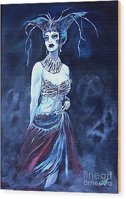 Queen Of The Dead Wood Print by Valarie Pacheco