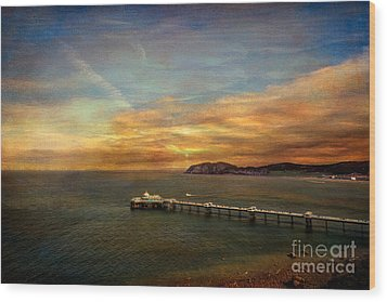 Queen Of The Welsh Resorts Wood Print by Adrian Evans