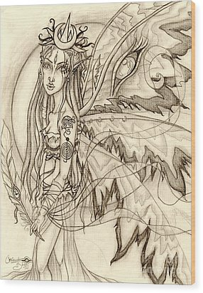 Queen Rhiannon Wood Print by Coriander  Shea