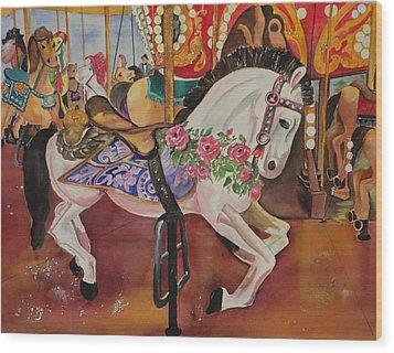 Queen Rose Wood Print by Barbara Koepsell