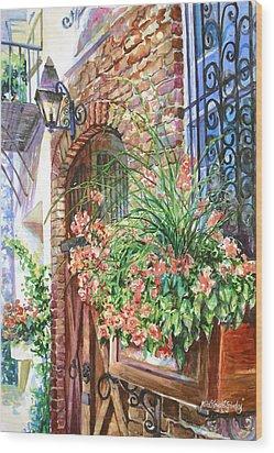 Queen Street Textures Wood Print by Alice Grimsley