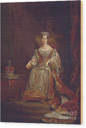 Queen Victoria Wood Print by Sir George Hayter