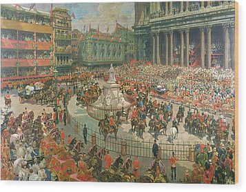 Queen Victorias Diamond Jubilee, 1897 Wood Print by G.S. Amato
