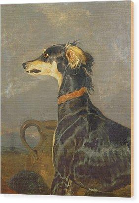 Queen Victorias Favourite Dog, Eos Wood Print by Sir Edwin Landseer