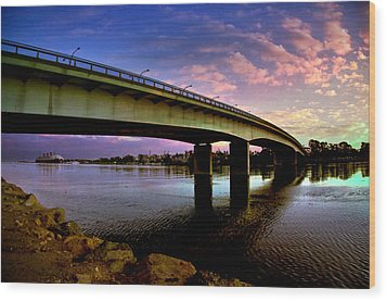 Wood Print featuring the photograph Queens Way Bridge by Joseph Hollingsworth