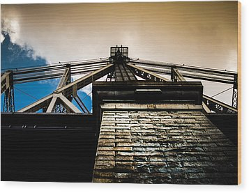 Queensboro Bridge Wood Print by Joshua Ayers