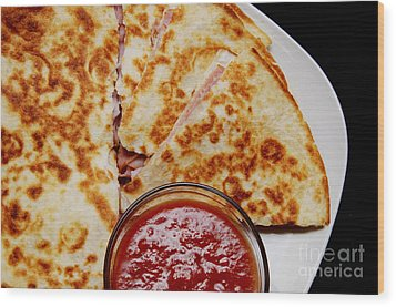 Quesadilla Wood Print by Andee Design