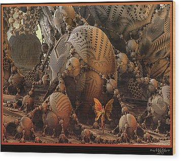 Wood Print featuring the digital art Quetzalcoatl by Melissa Messick