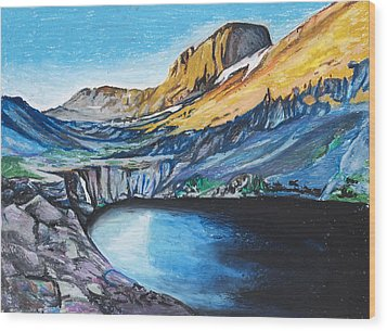 Quick Sketch - Kit Carson Peak Wood Print by Aaron Spong