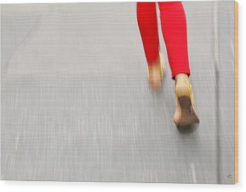 Quick Step Wood Print by Karol Livote
