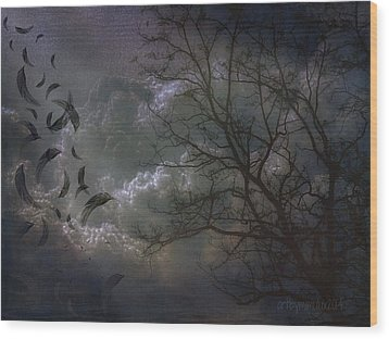 Quiet After The Storm Wood Print by Mimulux patricia no No