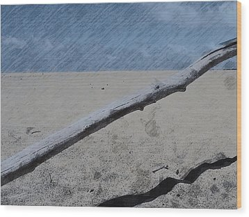 Wood Print featuring the photograph Quiet Beach by Photographic Arts And Design Studio