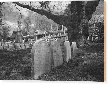 Quiet Cemetery Wood Print by Jennifer Ancker