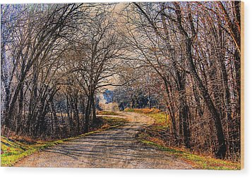 Quiet Country Road Wood Print