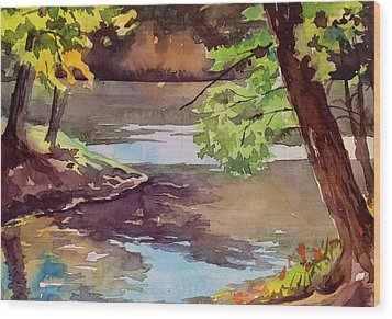 Quiet Cove Wood Print by Spencer Meagher