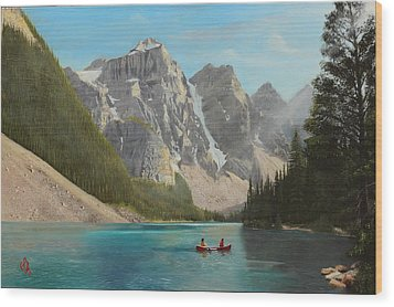 Wood Print featuring the painting Quiet Day by Glenn Beasley