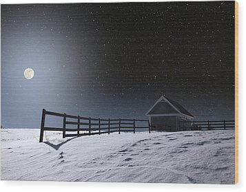 Wood Print featuring the photograph Quiet Evening by Larry Landolfi