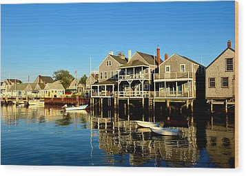 Quiet Harbor Wood Print