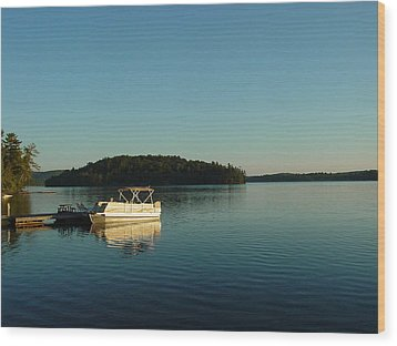 Wood Print featuring the photograph Quiet Lake by Dorothy Maier