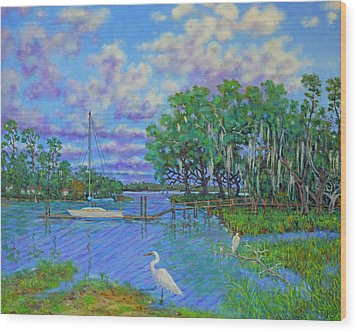 Quiet Low Country Lagoon Wood Print