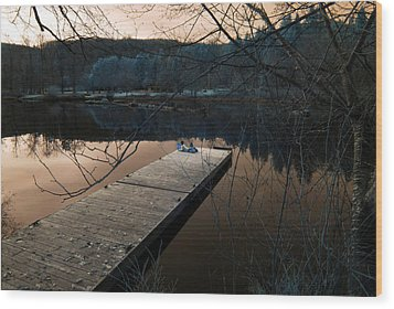 Wood Print featuring the photograph Quiet Moments Reading by Rebecca Parker