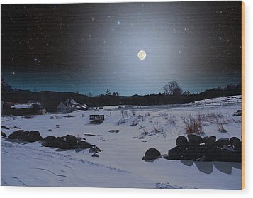 Wood Print featuring the photograph Quiet Moonlight by Larry Landolfi