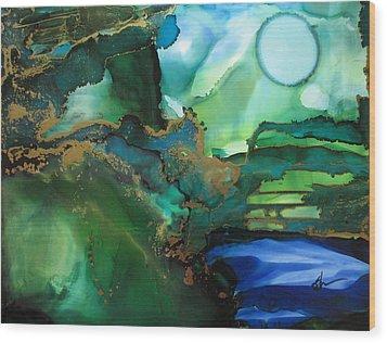 Quiet Pond Wood Print by Kathy Sheeran