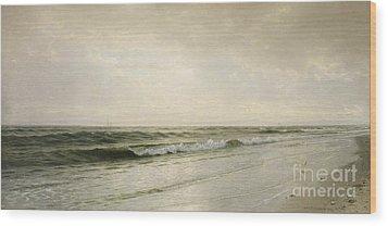 Quiet Seascape Wood Print by William Trost Richards