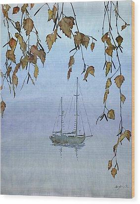 Quiet Water Wood Print by Carolyn Doe