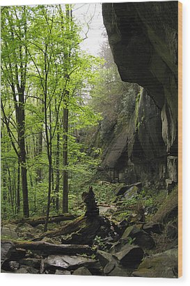 Quilliams Cave Wood Print by Melinda Fawver
