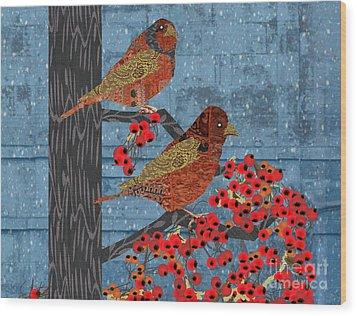 Wood Print featuring the digital art Sagebrush Sparrow Short by Kim Prowse