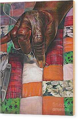 Quilting II Wood Print by Curtis James